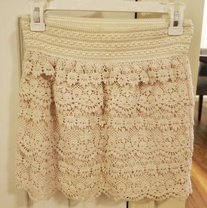 Beautiful Cream Lacy Skirt